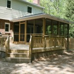 Screened porch and custom deck addition