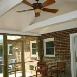 Screened porch room addition