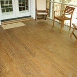 Room addition- Screened porch with hardwood floor and new Pella doors